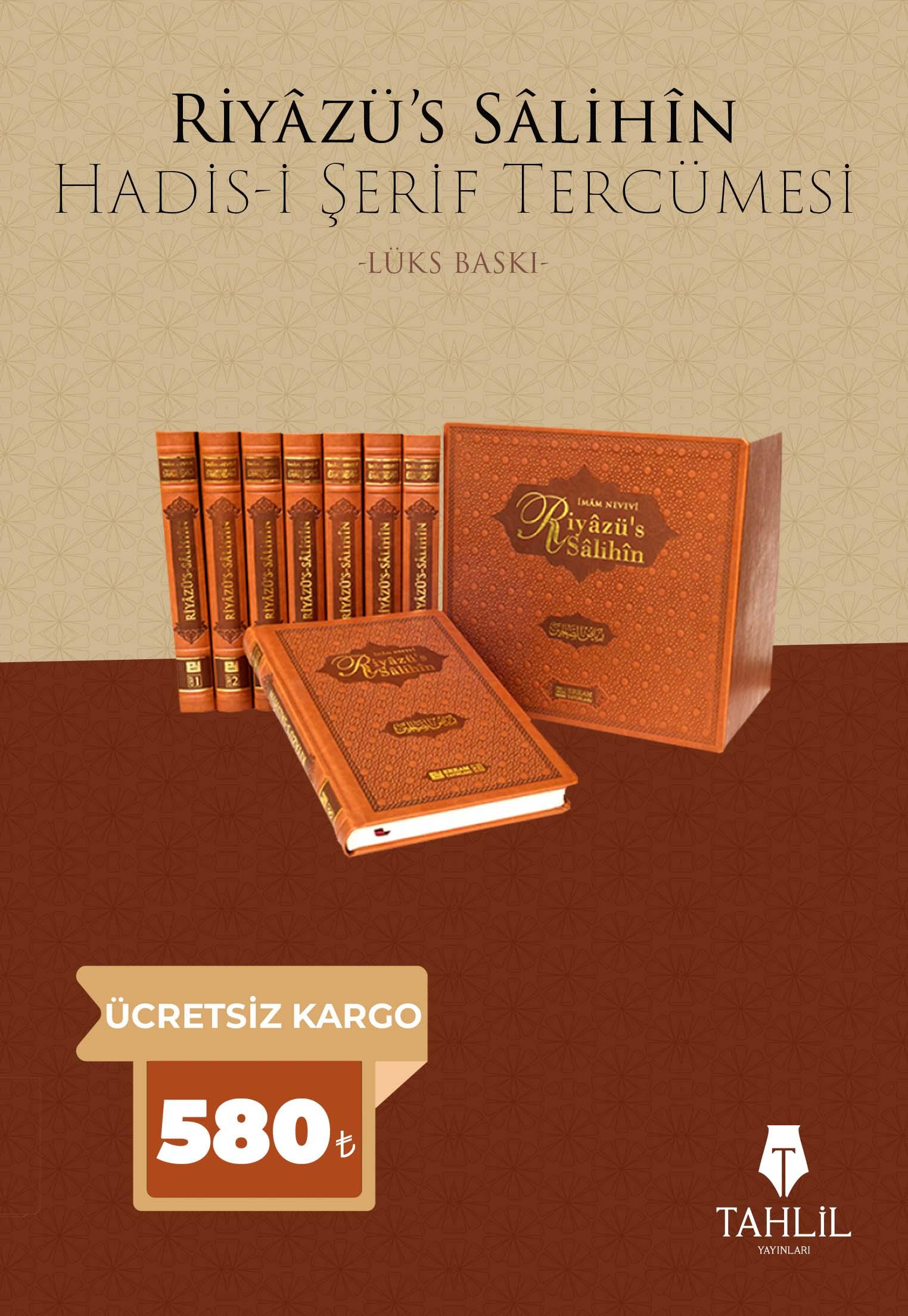 Lüks Baskı Riyâzü's-Sâlihin - Hadis-i Şerif Tercümesi - (8 cilt)