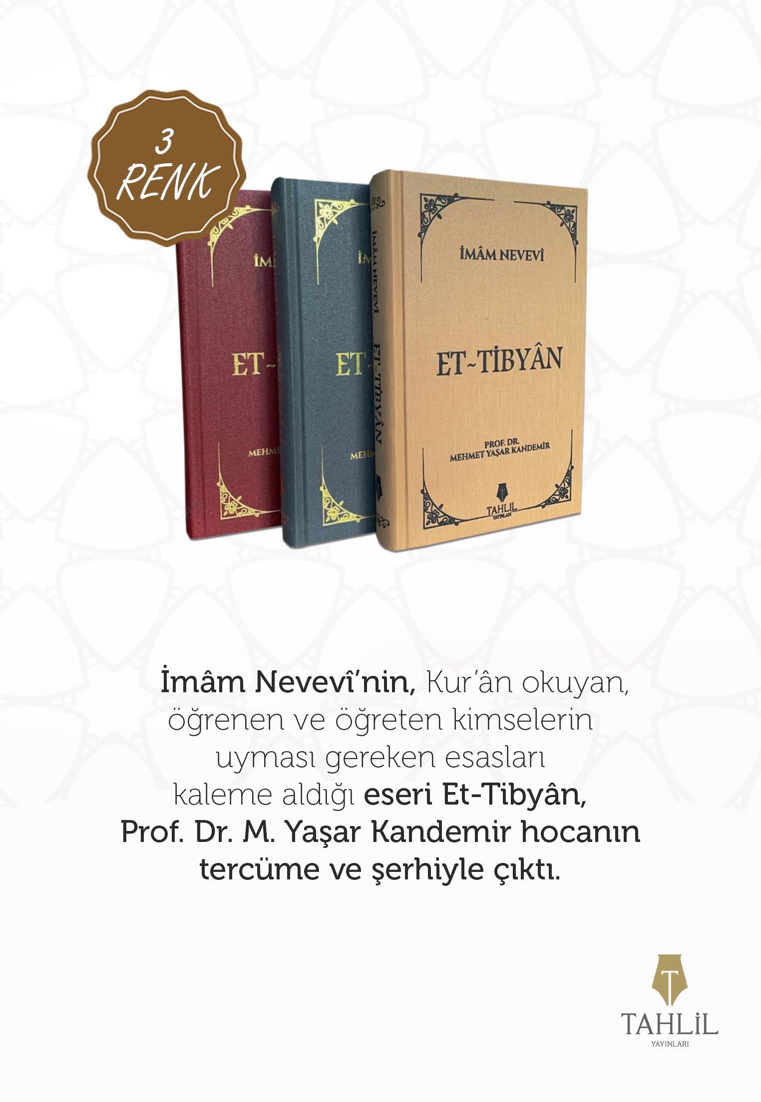 Et - Tibyân (Bez Cilt Kapak)